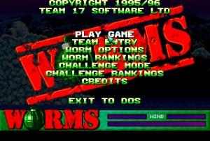 Worms Menu Screen
